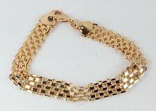 Women's Rose Gold Filled Link Bracelet 8 inches