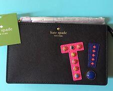 "NEW NWT Kate Spade ""T"" HARTLEY LANE INITIAL LEILA  Wristlet Wallet"
