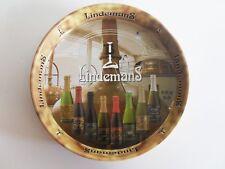 LINDEMANS BEER TRAY BAR - BELGIUM METAL ADVERTISING SERVING TRAY