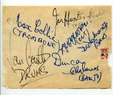 Ian Hunter-Randall Max Collie London City Stompers Jazz Signed Autograph
