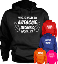 This Is What An Awesome Mechanic Looks Like Funny Hoodie Present Gift