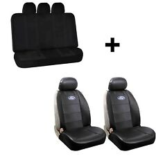 Synthetic Leather Sideless Seat Covers & U.A.A. Inc. Bench Seat Cover for Ford