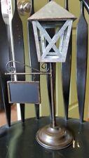 Farmhouse Decor - Metal Standing Lantern with Chalkbooard Sign