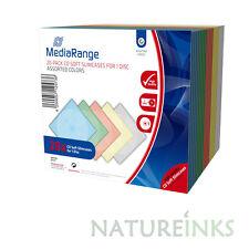 20 MediaRange CD DVD Soft 5mm Slimline jewel case Assorted colour BOX37