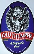 BIG Beer/Brewery Sticker - Shipyard Brewery Old Thumper Ale - A Beast of a Beer
