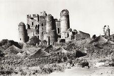 1934 Vintage 11x14 ETHIOPIA ~ Abyssinian Royal Castle Ruins Landscape Photo Art