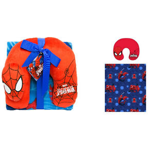 Ultimate Spiderman Travel Pillow and Throw Blanket Kids Official Licensed