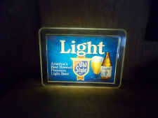 """Heilemans Old Style Light Beer Sign (Lighted) Approx 18.25""""W x 13.25""""T 8/21"""