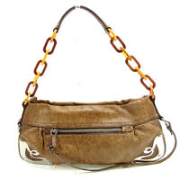 miumiu Shoulder bag Brown Woman unisex Authentic Used Y6724