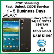 AT&T ALL SAMSUNG Galaxy S S2 S3 S4 S5 S6 Note 1 2 3 4 Mega Code Unlock Service
