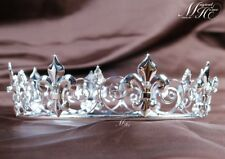 Imperial Medieval Tiara Full Bridal Crown Diamante Headpiece Pageant Party Prom