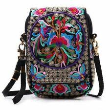 Ladies Cross Body Messenger Bag Women Embroidery Wallet Purse Shoulder Handbag