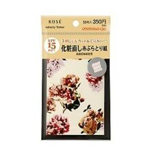 KOSE COSMENIENCE SELECTY Flower UV cut / pores cover Blotting Paper 50 sheet