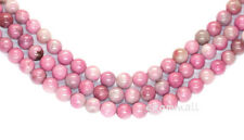 """15.75"""" Pink Strawberry Agate Round Beads 8mm #54027"""