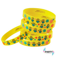 Minions Party Supplies Favours WRISTBANDS Pack Of 6