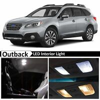Fits 2015-2019 Subaru Outback Full White Interior LED Lights Bulbs Accessories