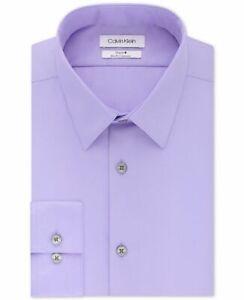 $85 Calvin Klein Men's Steel Slim-Fit Non-Iron Stretch Performance Dress Shirt