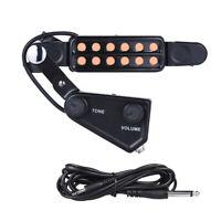 Acoustic Guitar Soundhole Pickup Microphone Amplifier Speaker Transducer 12 Hole