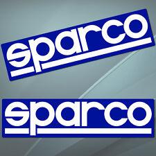 2 Vinyl Stickers Decal Auto Moto Sport SPARCO Racing Car Rally GP Sponsor B 78