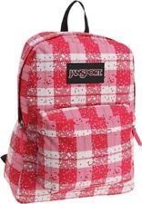 NWT JanSport Black Label Superbreak Student Backpack - Pink Tulip Digi Plaid