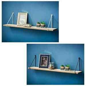 40/80cm Shelves Metal style Wire Wall Hanging Floating Shelf Smart Unique Design