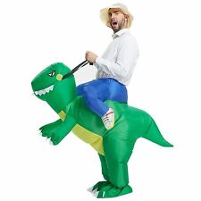 Inflatable Dinosaur T Rex Adult Fancy Dress Costume Green 100 Polyester