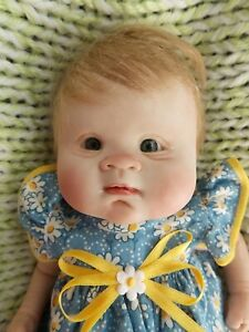 "10"" Handsculpted OOAK POLYMER CLAY REBORN Sculpture Baby Doll by RUTE ZORZIN"