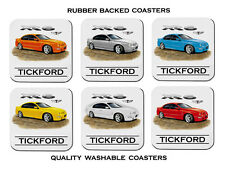 FORD  AU  XR6  TICKFORD  XR 6 FALCON   SET OF  6  QUALITY RUBBER DRINK  COASTERS