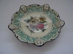 Rosenthal  Kronach Moliere Elfenbein Dornröschen Silberrand  D 15 cm