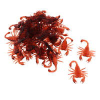 100Pcs Realistic Simulation Insect Plastic Scary Bugs for Party, Scorpion
