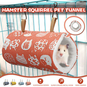 Pet Hamster Tunnel Hammock Nest Bed Cage Rabbit Squirrel Toy Warm Sleep