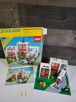 LEGO VTG LEGOLAND TOWN SYSTEM #6380 EMERGENCY TREATMENT CENTER Complete W/ BOX!!