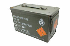 Danish Army Olive Medium Metal Ammo Box Tin Used Military Surplus