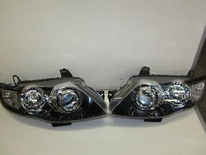 FOR Ford Falcon FG XT GT SERIES 2 MK G6 G6E F6 Headlights Black Brand New Pair