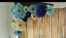 """10 GIANT PAPER FLOWERS 18"""" WEDDING DECOR HANDMADE IN USA FULLY ASSEMBLED NEW"""