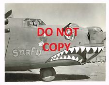 """WWII PHOTO 5X7 OF B-24 BOMBER """"SNAFU"""" 14TH USSAF 308TH BG """"THE HUMP"""" 373RD BS"""
