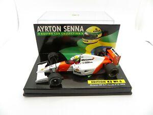Mclaren Honda V12 MP4/7 Ayrton Senna #1 1992 1/43 MINICHAMPS F1 Formula 1