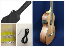 Caraya parlor-610 Acoustic Guitar,Built-in EQ & Tuner,Natural Matt+Free Gig Bag