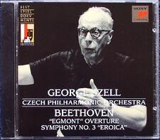 GEORGE SZELL BEETHOVEN Symphony No. 3 eroica Egmont Overture Salzbourg CD Symphonie
