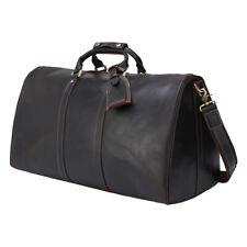 Vintage Men's Leather Travel Bag Luggage Duffle Gym Bag Carry On Shoulder Bag
