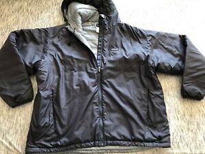 Patagonia Puff Jacket Blue Adjustable hem Sz XXL hooded