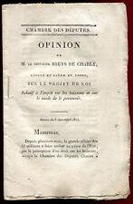 1814.OPINION de M.le Chevalier BRUYS DE CHARLY Député S.& L. impôt sur boissons
