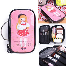 Women Travel Accessory Toiletry Bag Case Cosmetic Makeup Pouch A. Pink#8.