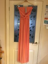 Ladies Clothes Size Medium 10 City Goddess Peach Strapless Maxi Dress Occasion