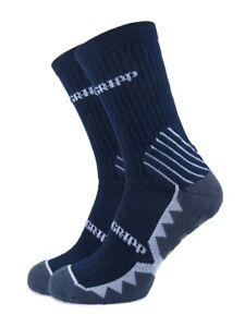 Premgripp Non-Slip CALF Socks NAVY with white trim