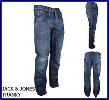 jeans jack jones da uomo a gamba dritta dritti vita bassa blu hip hop w33 46 48