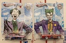 Hot Wheels The Joker DC Comics 63 Studebaker Champ & 56 Chevy Nomad Lot of 2 HTF
