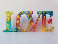 Handmade Resin Freestanding LOVE Sign, Home Décor, Ornament, Table Top, Mantle