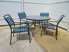 "Tropitone re-manufactured pool furniture 4 chairs and one 42"" dia table"
