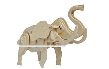 Elephant Cock 3D Jigsaw DIY Decorate Wooden Model Kit Toy Puzzle Christmas Gift